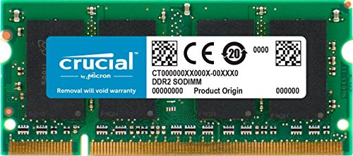 Crucial CT12864AC667 1GB (DDR2, 667MHz, PC2-5300, SODIMM, 200-Pin) Mémoire