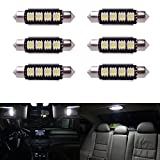 XCSOURCE® 6 x Car Dome 5050 SMD LED Canbus Bulb Light Interior Festoon LED 42MM White LD308