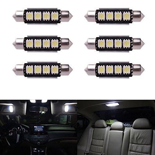 6 x Car Dome 5050 SMD LED Canbus Bombilla Interior del adorno LED 42MM Blanco LD308