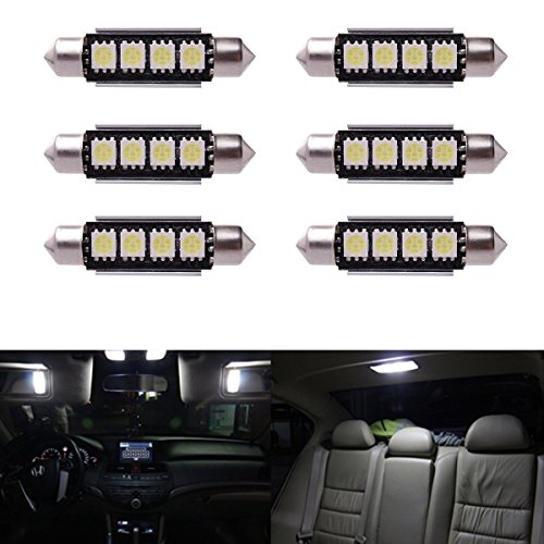 6 x Car Dome 5050 SMD LED Canbus Bombilla Interior del adorno LED 42MM