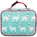 Bentology Lunch Box for Girls - Kids Insulated Lunchbox Tote Bag Fits Bento Boxes - Llama