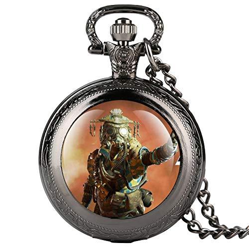 Apex Online Games Series - Reloj de bolsillo para hombre, diseño clásico árabe digital para amigos
