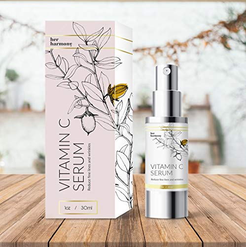 Vitamin C Serum Her Harmony 20% Vitamin C for Skin Rejuvenation With Hyaluronic Acid Made for Moisturizing And Boosting Antioxidant Levels a Wrinkle-Free, Younger, Healthier Vibrant Skin