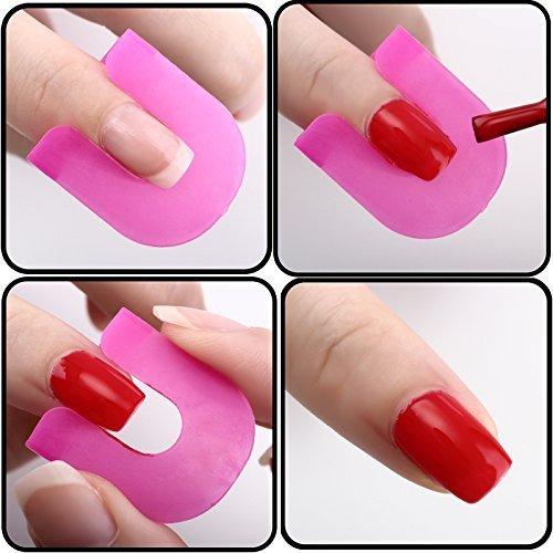 26 Stück Nagelschablone Fingernägel Schablonen für Nailart