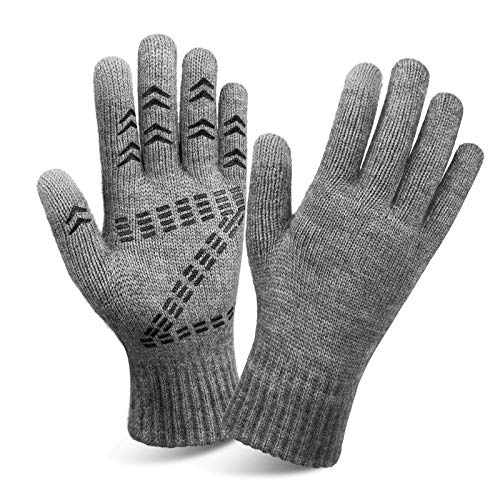 Cierto Winter Knit Touchscreen Gloves Thermal Protection For Men amp Women Gray
