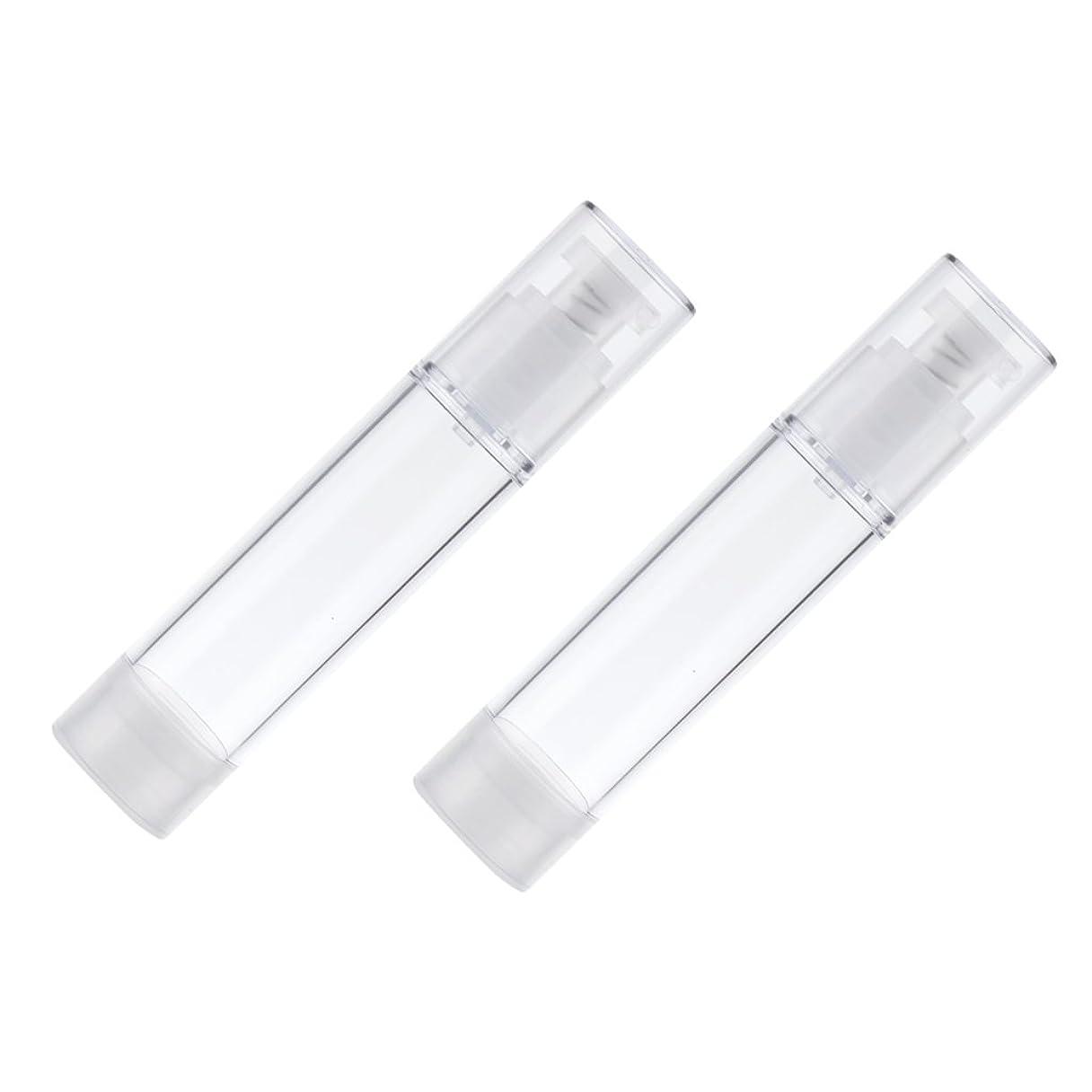 錫シンプルな推定Baosity 2個 ポンプボトル エアレスボトル ポンプディスペンサー コスメ 詰替え DIY 化粧品 メイクアップ スキンケア 3サイズ選べる - 50ml