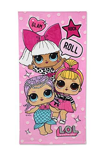 L.O.L. Surprise! - Toalla de Baño Glam Rock Roll (Playa y Piscina) 70x140cm Algodón 100%