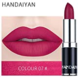 zroven HANDAIYAN Professional Matte 12 colori trucco rossetto labbra rossetto impermeabile lunga durata pigmento velluto opaco rossetto labbra opaco (7#)