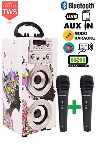 DYNASONIC - Altavoz Bluetooth Portátil Karaoke |