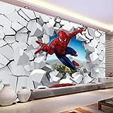 LXBHX 3D Wandbild Selbstklebende Tapete (B) 300X (H) 210Cm Spinne Held Tapete 3D Fototapete Held Wandbild Junge Schlafzimmer Wohnzimmer Kindergarten Designer Raumdekoration Kinderzimmer Wohnwand 3D F