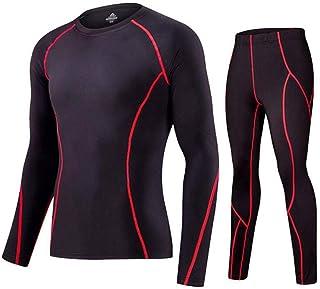 FENTINAYA Men's Long Johns Fleece Thermal Underwear Set Compression Jogging Suit Warm Bottom Thermal Underwear