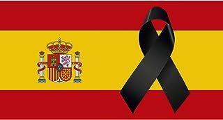 comprar comparacion Oedim Bandera de España con Crespón | Medidas 85x150cm | Reforzada y con Pespuntes | Bandera de España con Crespón y 4 Oja...