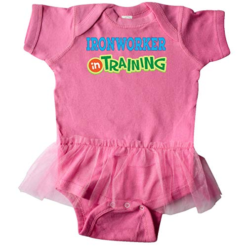 inktastic Future Ironworker in Training Infant Tutu Bodysuit 24 Months Raspberry