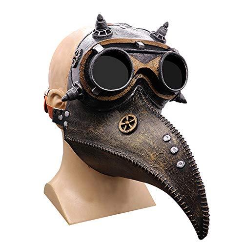 Máscara de médico de la peste Steampunk, color negro, gótico para cosplay...