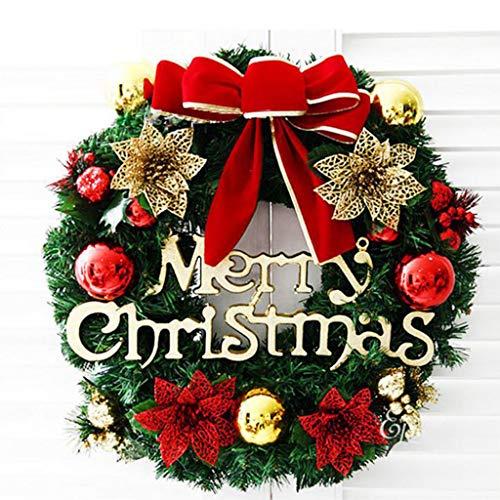 Fineday Garland Arrangement Christmas Ornament Christmas Wreath Decorative Wreath 30CM, Artificial for Christmas (C)