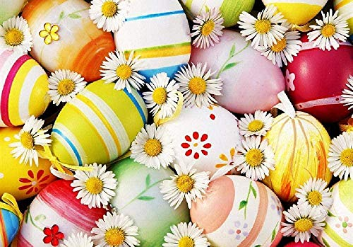 Witte margrieten en paaseieren 1000 puzzels voor volwassenen, houten puzzels, leuk educatief speelgoed voor kinderen, woondecoratie
