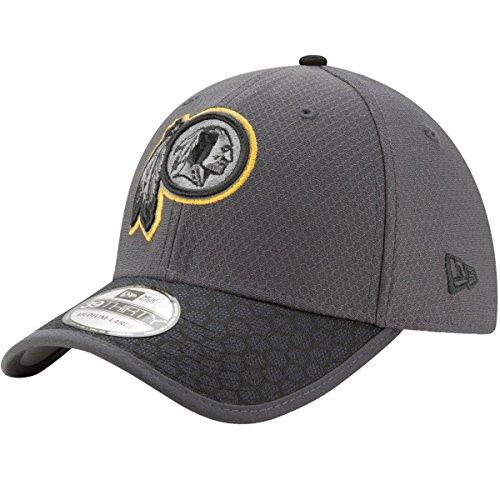 Washington Redskins New Era NFL 39THIRTY 2017 Sideline Graphite Flex Fit Hat Hut