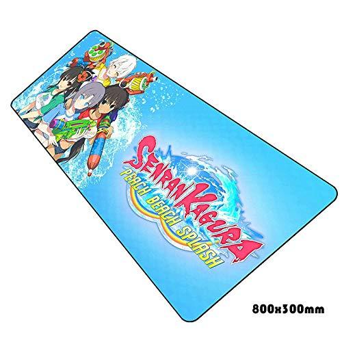 IGZNB Senran Kagura Mauspad Hd Muster Notbook Computer Gaming Gamer Laptop 80X30Cm Mauspads Farbe H
