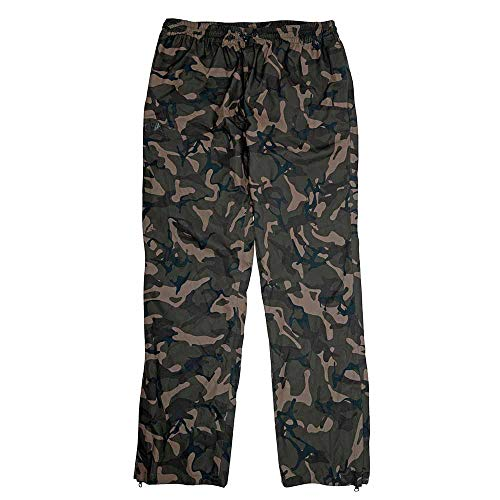 Fox Chunk Camo 10k Lightweight RS Trousers - Regenhose zum Angeln, Angelhose für Angler, Hose für Karpfenangler & Wallerangler, Größe:S