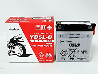 ジャパン GSユアサ バッテリー YB5L-B (GY) 12Vバイク用 開放式 液入り 充電済み バッテリー 【BSMオリジナル】