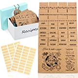 36 Pieces Recipe Cards Dividers with Tabs Include 24 Index Card Separators with Printed Cooking Tips 12 Blank Card and 60 Adhesive Labels Work with 4 x 6 Inch Cards Recipe Box Organize (Kraft color)