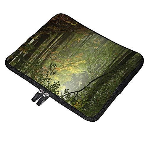 Isty Autumn Forest With Shaded Trees Foggy - Funda para portátil de 13 pulgadas (12,9 pulgadas, MacBook Air Pro y 12,3 pulgadas, Surface Pro 6/12 pulgadas, Lenovo Yoga 720)
