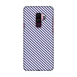 Amzer Slim Fit Hard Snap On Shell Case Back Cover with USB Type C Cable and Screen Cleaning Kit Skin for Samsung Galaxy S9 Plus - Checkered in Purple HD Color, Ultra Light Back Case