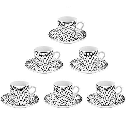 Jogo de xícara para café egito 12 peças em porcelana………