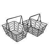 CVHOMEDECO. Cestas de metal de alambre para frutas y huevos, cestas de recogida con...