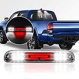 HUSUKU Tail High Mount 3rd Third Brake Light for 1999-2016 Ford F-250 F-350 F-450 F-550 Super Duty / Ranger /Explorer Sport Trac/Mazda B-Series/ White & Red 12 LED Smoke Housing Cargo Lamp (SMOKE)