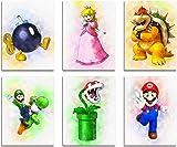 FANLA Wandbilder Super Mario Gesamt 6 teiliges Poster