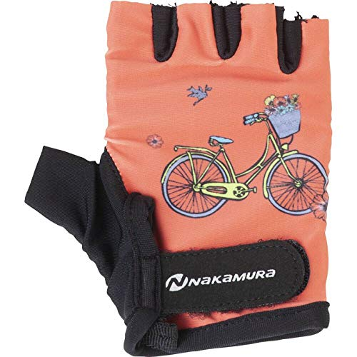 Nakamura Kinder-Radsport-Fahrrad-Handschuhe Dolo rot gelb, Größe:L
