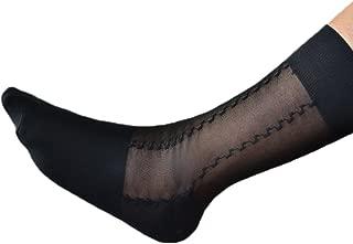 Nanxson Men's Summer Sheer Socks Cllassic Black Casual Cold Midi-Calf Socks WZMD0008