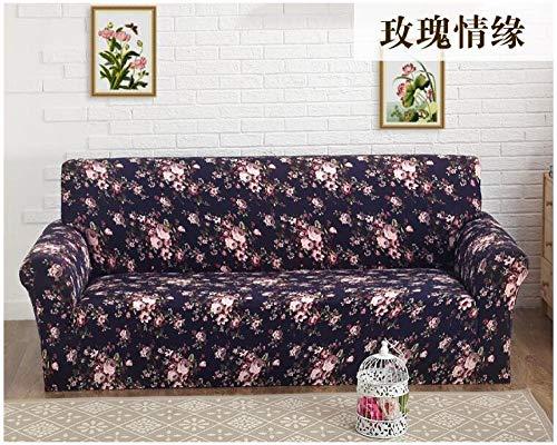 Allenger Elastic Non-Slip Sofa Cover,Vier Jahreszeiten Universal Kissenbezug, elastische rutschfeste Sofabezug, Vollbezug Sofamöbel Staubschutzbezug-Farbe 5_90-140cm