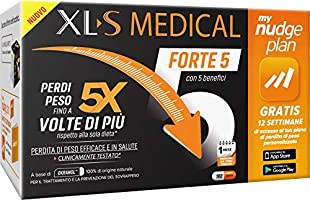 XL-S MEDICAL Forte 5 Pastiglie Dimagranti Forte, Trattamento Dimagrante con 5 Benefici in 1, App My Nudge Plan Inclusa,...