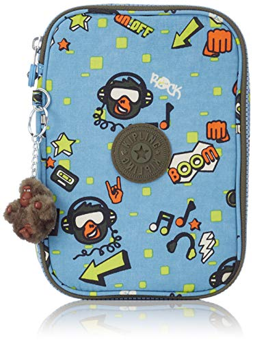 Kipling 100 PENS Pencil Cases, 21 cm, 1.5 liters, Multicolour (Monkey Rock)