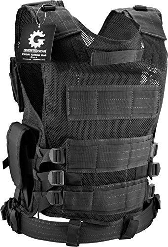BARSKA mens Loaded Gear VX-200 Right Hand Tactical Vest, Black