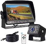 Kit Telecamera Retromarcia per Auto, Ad Alta Definizione Telecamera Backup Kit con 7 '' Monitor LCD, telecamera posteriore camper Impermeabile IP69, 20m Cavo prolunga, Per Autobus,Camion,Camper