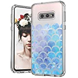 MOSNOVO Galaxy S10e Case, Mermaid Scale Printed Pattern Clear Design Transparent Plastic Hard Back Case with TPU Bumper Protective Case Cover for Samsung Galaxy S10e