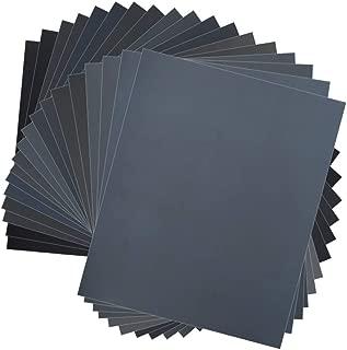 Wormholex 紙やすり 耐水ペーパーセット 高品質 18枚入り (400 600 800 1000 1200 1500 2000 2500 3000各2枚) 23x28cm