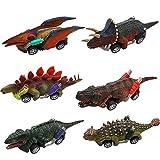 Coche de Juguete de Dinosaurios, Comius Sharp Juguetes Pack de 6 Vehículos Dinosaurios Juguetes,...