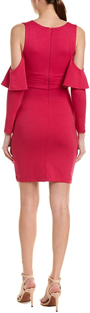French Connection Womens Beau Mini Cold Shoulder Cocktail Dress Pink 4