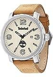 Timberland 14399XS/07 - Reloj para hombres, correa de cuero color marrón