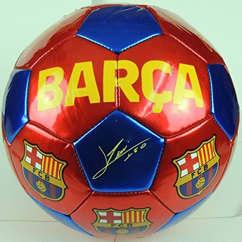 FCB FC Barcelona - Balón f.c. Barcelona con Escudo y firmas Grande Talla 5 (Accesorios Deportivos)