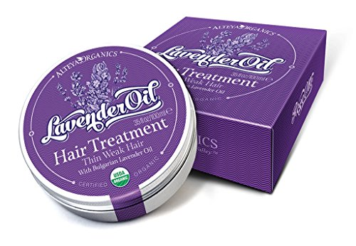 Alteya Organic Traitement capillaire lavande bulgare 40ml - Certifiée organique USDA traitement et conditionnement des cheveux pur bio naturel fortifiant à la base d'huile essentielle de lavande de classe thérapeutique (Lavandula Angustifolia)
