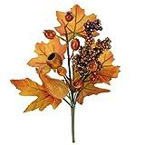 4 unidades de 29 cm de largo para decoración de otoño, con calabazas y hojas de arce, para...