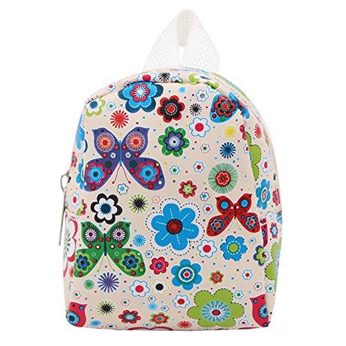 TrifyCore Rucksack für die Puppe, für Mädchen, 18 Zoll, Mini (Schmetterlinge, Weiß)