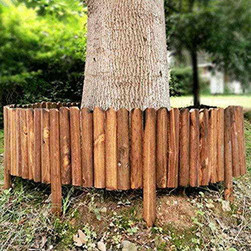 Facynde Rasenkante Sichtschutzmatte Gartenpalisade Spiked Log Roll Border Einfacher Plug-In-Zaun Palisade Korrosionsbeständig Holzkantenzaun Für Blumenbeete Rasenpfade