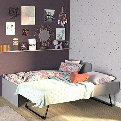 Cama nido 90x190 con 2 somieres Hedda Grey