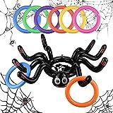Halloween Aufblasbares Ringwurfspiel BESTZY Aufblasbare Spinne Ring Ringwurfspiel Spinnen Wurfspiel...